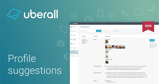 Uberall Profile suggestions: Just a few clicks away from complete location profiles